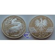 Польша 20 злотых 1995 год Сом пруф Proof серебро