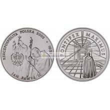 Польша 10 злотых 2002 год Иоанн Павел II Понтифик Максимус серебро пруф