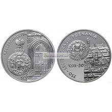 Польша 10 злотых 2003 год 750-летие расположения Познани серебро пруф