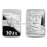 Польша 10 злотых 2016 год 100-летие восстановления независимости Польши - Юзеф Халлер серебро пруф