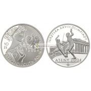 Польша 10 злотых 2004 год XXVIII Олимпиада в Афинах серебро пруф proof