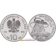 Польша 10 злотых 1999 год Короли и князья польские Владислав IV Ваза (1632 - 1648) серебро пруф