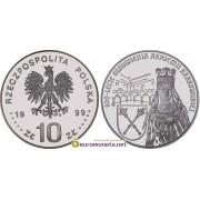 Польша 10 злотых 1999 год 600 лет Краковскому университету (1400 - 2000 гг) серебро пруф