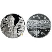 Польша 10 злотых 2004 год Польские Путешественники и первопроходцы: Александр Чекановского (1833-1876) серебро пруф