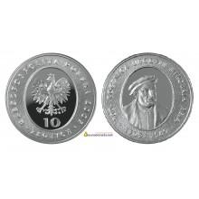 Польша 10 злотых 2005 год Миколай Рей серебро пруф proof
