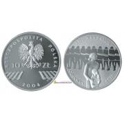 Польша 10 злотых 2006 год 30-летие 76-го июня серебро пруф proof