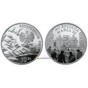 Польша 10 злотых 2008 год 40-летие 68-го марта серебро пруф