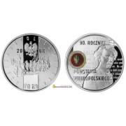 Польша 10 злотых 2008 год 90-летие Великопольского восстания серебро пруф proof