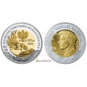 Польша 10 злотых 2009 год 65 -я годовщина Варшавского восстания Тадеуш Гайцы пруф серебро