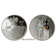 Польша 20 злотых 2004 год 15-летие Сената Третьей республики серебро пруф