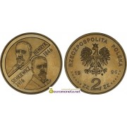 Польша 2 злотых 1996 год Генрик Сенкевич (Henryk Sienkiewicz) 1846-1916