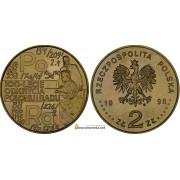 Польша 2 злотых 1998 год 100-летие открытия полония и радия (100-lecie odkrycia polonu i radu)