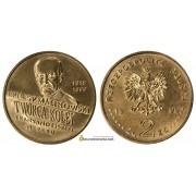 Польша 2 злотых 1999 год 100 годовщина смерти Эрнест Малиновский (1818-1899)