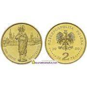 Польша 2 злотых 2000 год 1000-летие Вроцлава