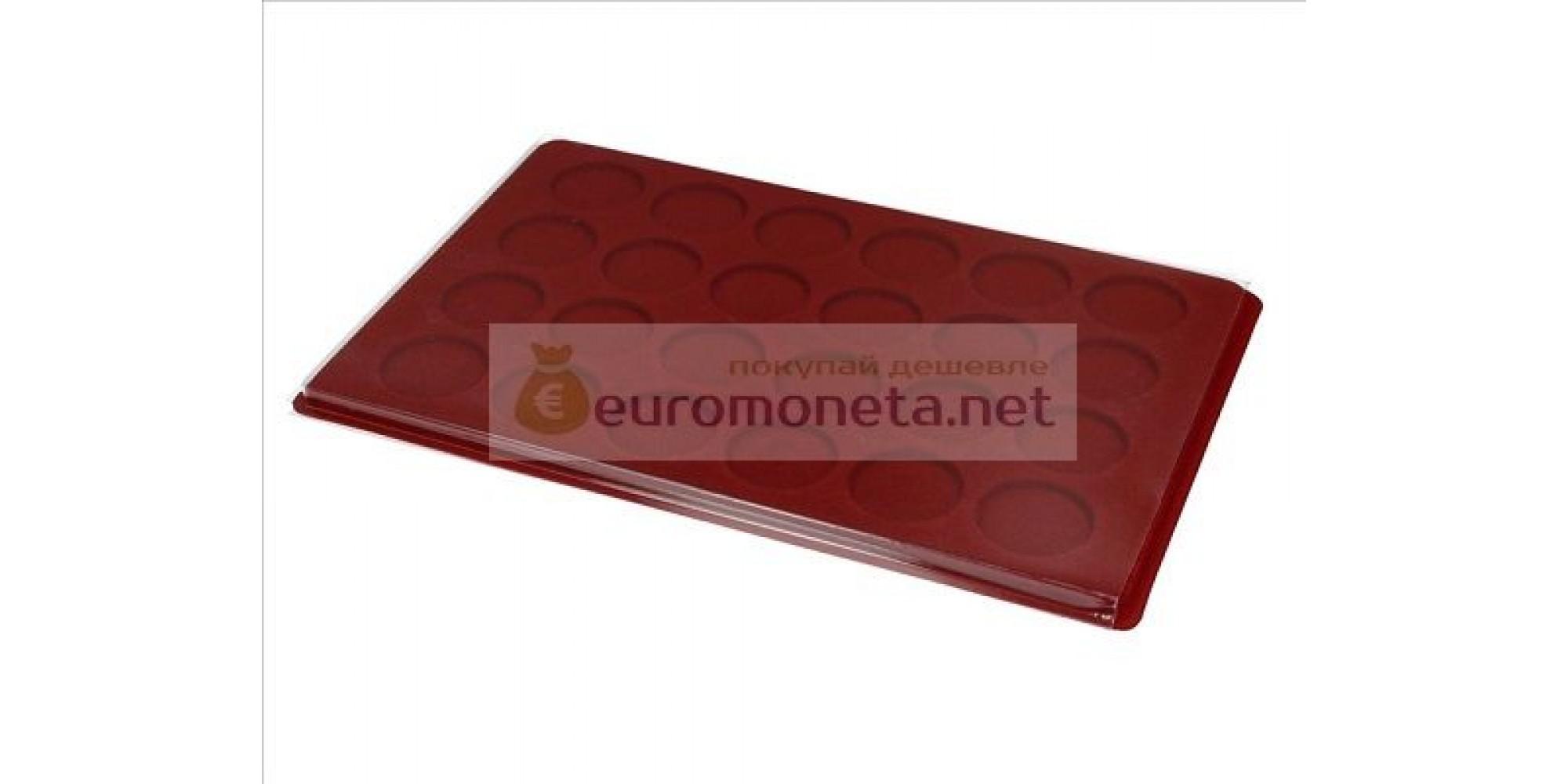 Польша планшет для монет и другого 24 круглых ячейки 40 мм с крышкой