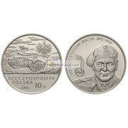 Польша 10 злотых 2003 год Бригадный генерал Станислав Мачек (1892-1994) серебро пруф