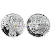 Польша 10 злотых 2009 год 95 лет образованию Польского ополчения в 1914 году серебро пруф