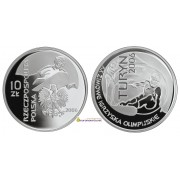 Польша 10 злотых 2006 год XX зимние Олимпийские игры: Турин серебро пруф proof