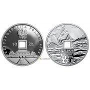 Польша 10 злотых 2008 год Игры XXIX Олимпиады - Пекин-2008 серебро пруф proof