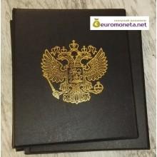 Альбом Герб сегрегатор Optima с кольцевым механизмом, коричневый, жёсткий, пр-во Россия