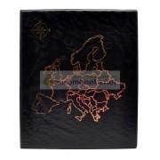 Альбом карта Европы сегрегатор Optima с кольцевым механизмом, чёрный, искусственная кожа, корешок 40 мм, пр-во Россия