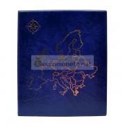 Альбом карта Европы сегрегатор Optima с кольцевым механизмом, синий, искусственная кожа, корешок 50 мм, пр-во Россия