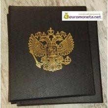 Альбом Герб сегрегатор Optima с кольцевым механизмом, бордовый, жёсткий, пр-во Россия
