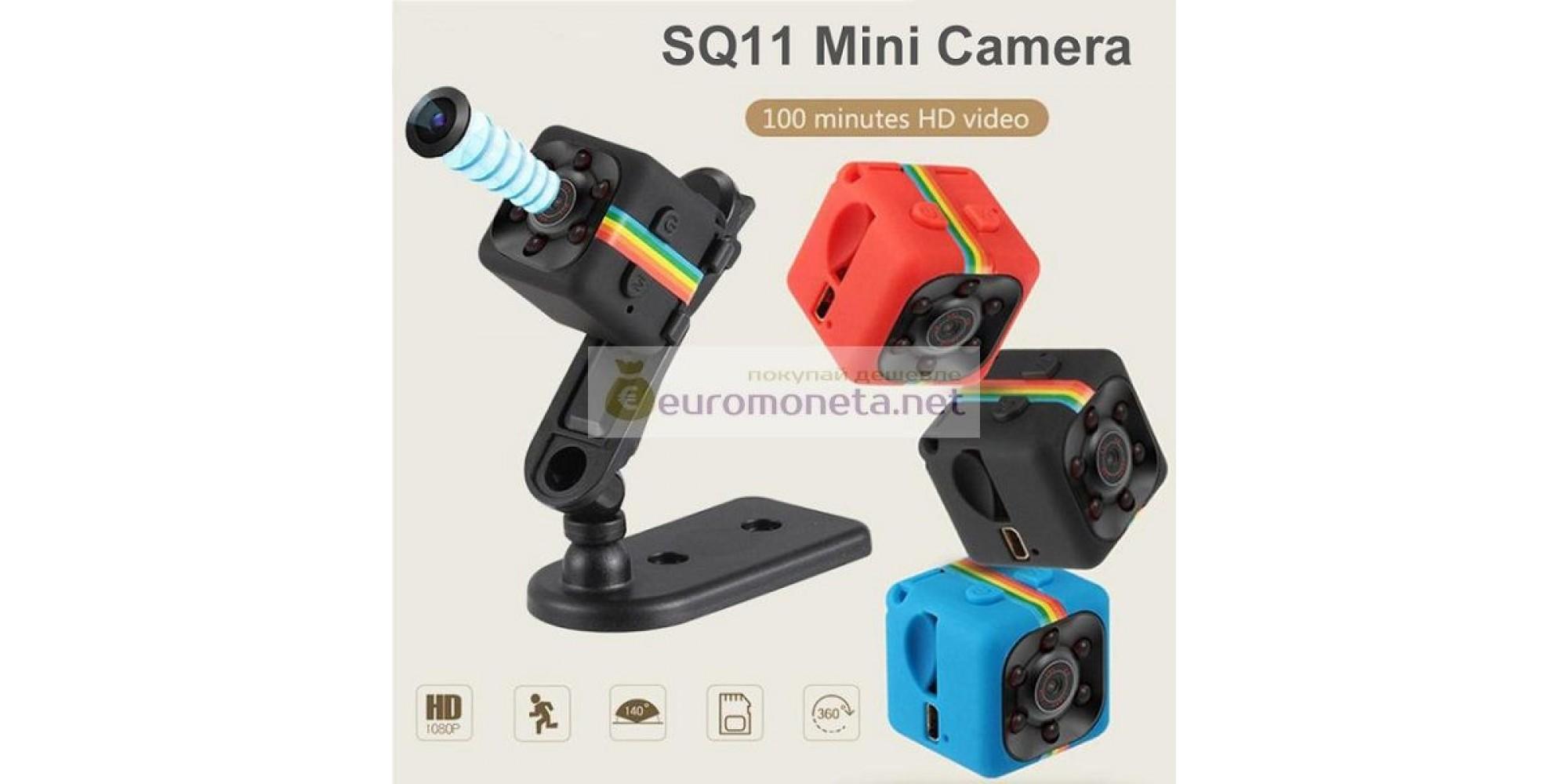 SQ11 HD 1080 P мини камера ночное видение, видеорегистратор для автомобиля инфракрасный, чёрный (доставка из Китая)