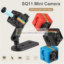 SQ11 HD 1080 P мини камера ночное видение, видеорегистратор для автомобиля инфракрасный, чёрный
