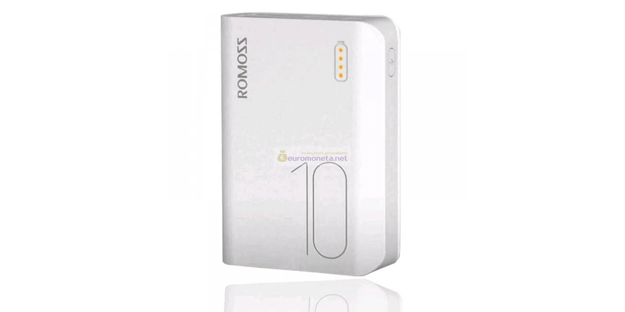 Внешний аккумулятор ROMOSS SENSE 4 Mini 10000 mAh, белый