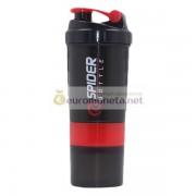 Шейкер / бутылка для занятия спортом для протеина / воды и другого 3 в 1, цвет красный, пр-во Китай