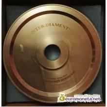 Диск алмазный для формования шаров из янтаря INTER-DIAMENT, диаметр 10 мм, пр-во Польша