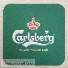 Бирдекель подставка под бокал (пивной) бутылку Carlsberg