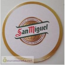Бирдекель подставка под бокал (пивной) бутылку San Miguel