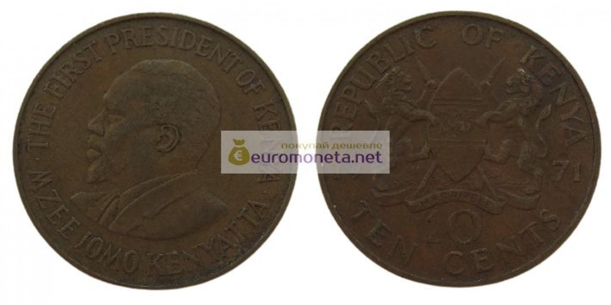 Кения 10 центов 1971 год