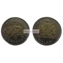 Малави 5 квач (kwacha) 2006 год биметалл. АЦ из банковского ролла