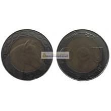 Алжир 100 динаров 2009 год биметалл.