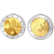 Словения 2 евро 2011 год АЦ 100 лет со дня рождения Франца Розмана, биметалл. АЦ из ролла