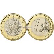 Сан-Марино 1 евро 2009 год, биметалл, АЦ из ролла
