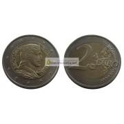 Латвия 2 евро 2014 год Милда, биметалл