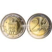 Сан-Марино 2 евро 2013 год Государственный дворец Сан-Марино, биметалл, АЦ