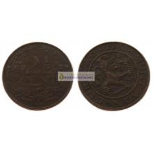 Кюрасао 2 1/2 цента 1947 год