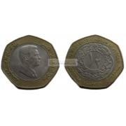 Иордания 1/2 (пол) динара 2000 год. биметалл