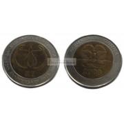 Папуа - Новая Гвинея 2 кина, 2008 год. 35 лет Банку Папуа Новой Гвинеи