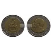 Кения 5 шиллингов 2009 год