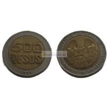 Колумбия 500 песо, 1994 год. биметалл