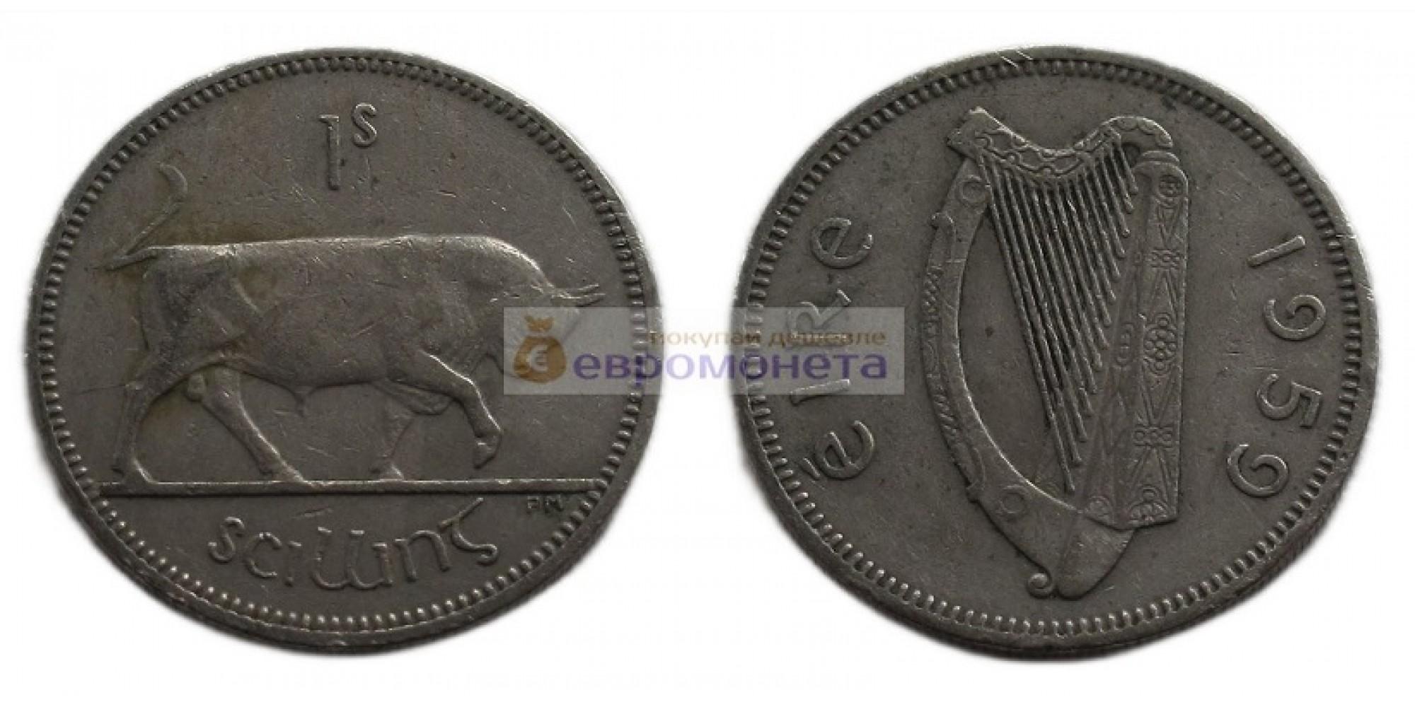 Ирландия 1 шиллинг, 1959 год
