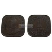 Стрейтс-Сетлментс 1 цент, 1920 год. Король Георг V