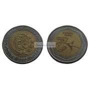 Перу 2 новых соля 2003 год. биметалл