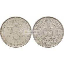 Германия Веймарская республика 3 рейхсмарки, 1929 год 1000 лет Мейсену. Серебро
